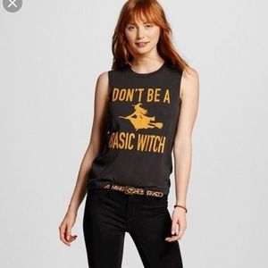 Fifth Sun Don't be a Basic Witch Sleeveless Tee
